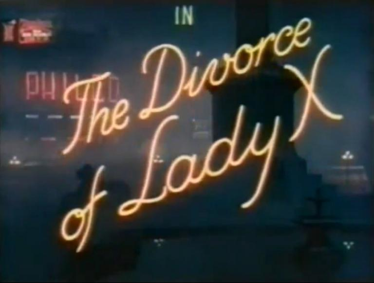 Main title from The Divorce of Lady X (1938)