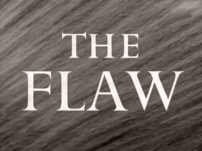 Main title from The Flaw (1955)