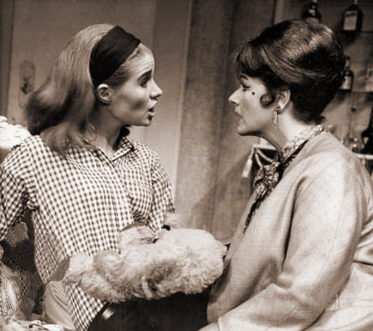Julia Lockwood (as Carol Manning) and Margaret Lockwood (as Mollie Manning) in a photograph from The Flying Swan (1965) (1)