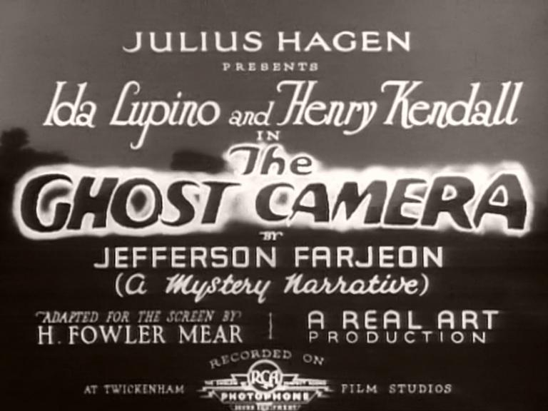Main title from The Ghost Camera (1933) (2)