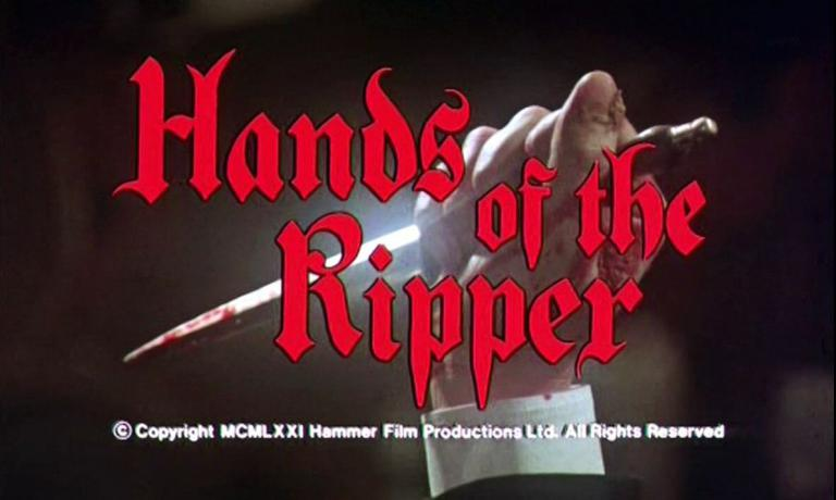Main title from Hands of the Ripper (1971) (3).  Copyright 1971 Hammer Film Productions Ltd