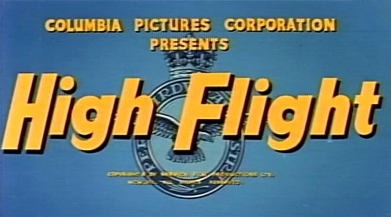 Main title from High Flight (1957) (2). Columbia Pictures Corporation presents