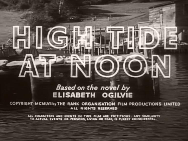 Opening credits from High Tide at Noon (1957) (4)