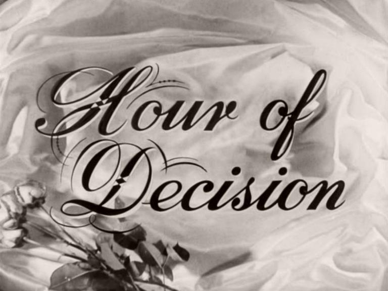 Main title from Hour of Decision (1957) (4)