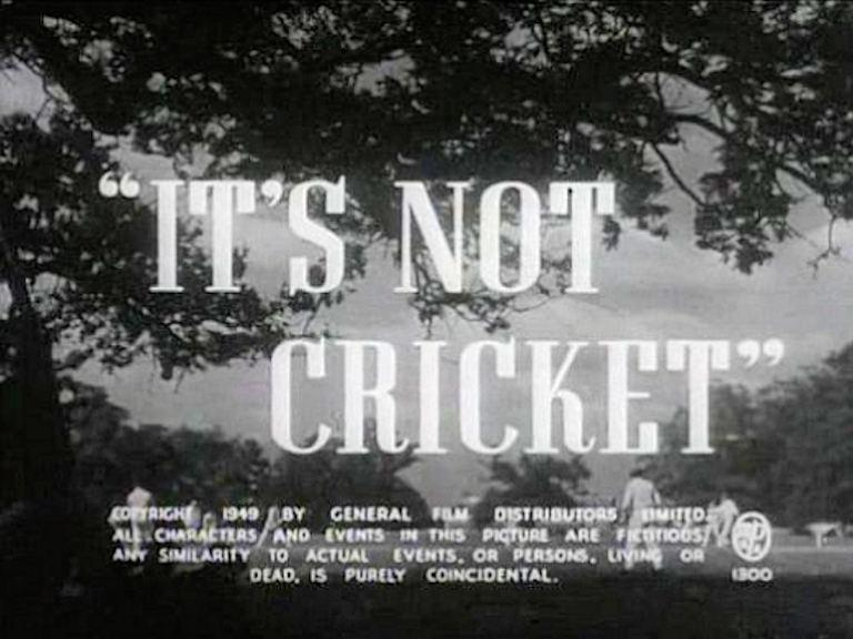 Main title from It's Not Cricket (1949)