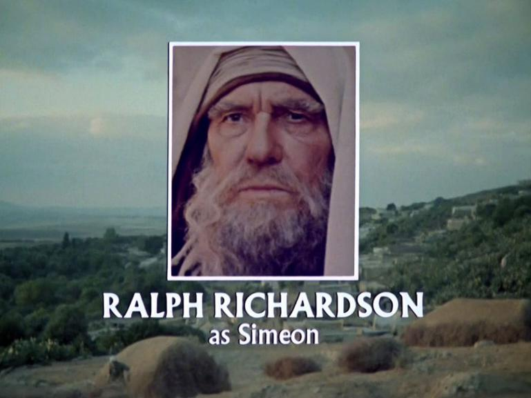 Main title from Jesus of Nazareth (1977) (21). Ralph Richardson as Simeon