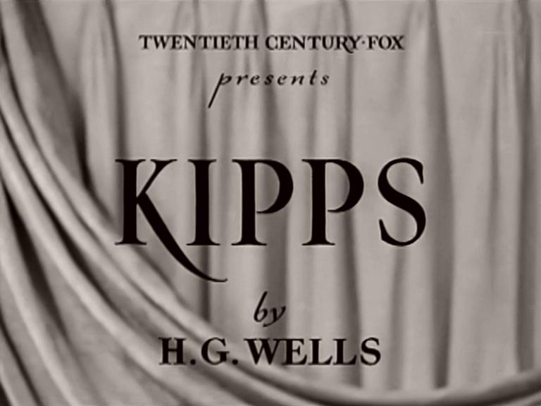 Main title from Kipps (1941) (2). Twentieth Century Fox presents Kipps, by H G Wells