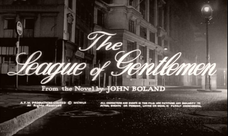 Main title from The League of Gentlemen (1960) (4).  From the novel by John Boland