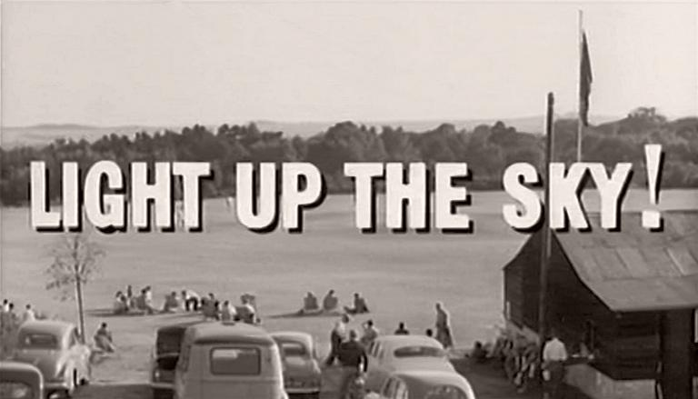 Opening credits from Light Up the Sky! (1960) (3)
