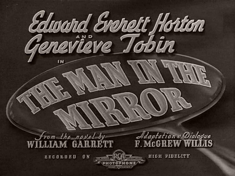 Main title from The Man in the Mirror (1936) (2)