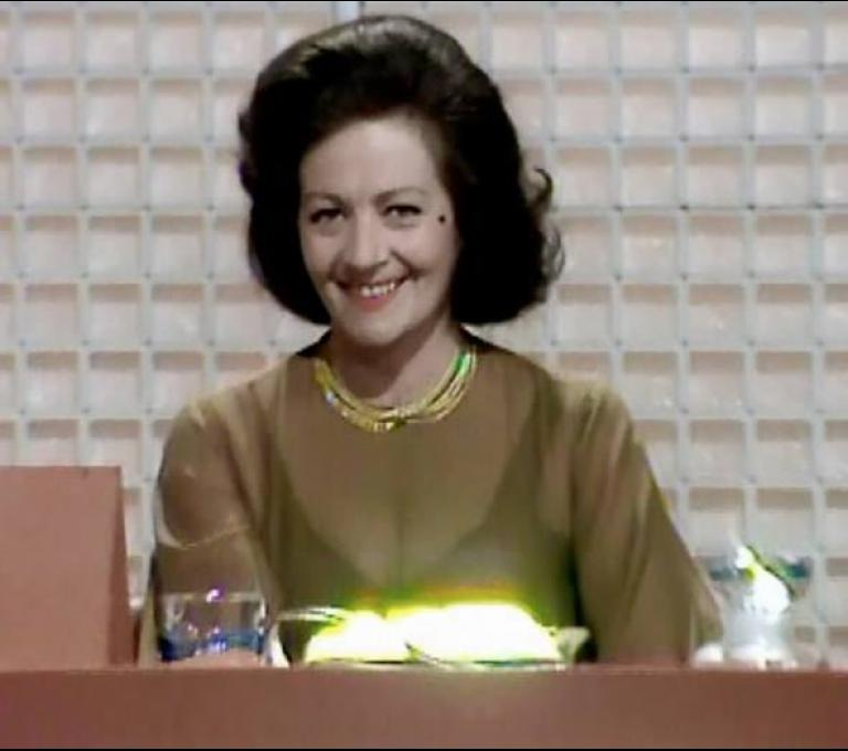 British actress Margaret Lockwood is a contestant on Celebrity Squares (1975), hosted by Bob Monkhouse.  Season 1 episode 2.