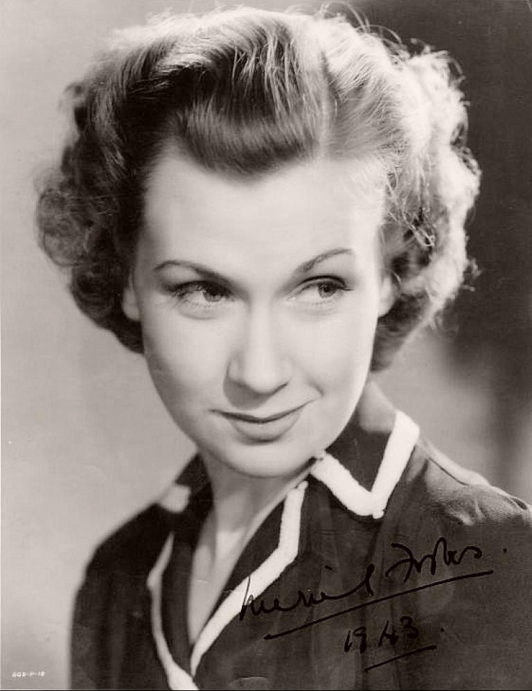 Autographed photo from 1943 featuring Meriel Forbes