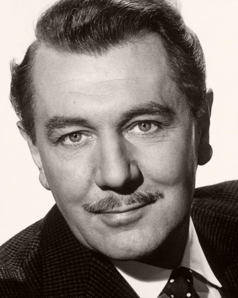 British actor Michael Redgrave in a moustachioed publicity photograph