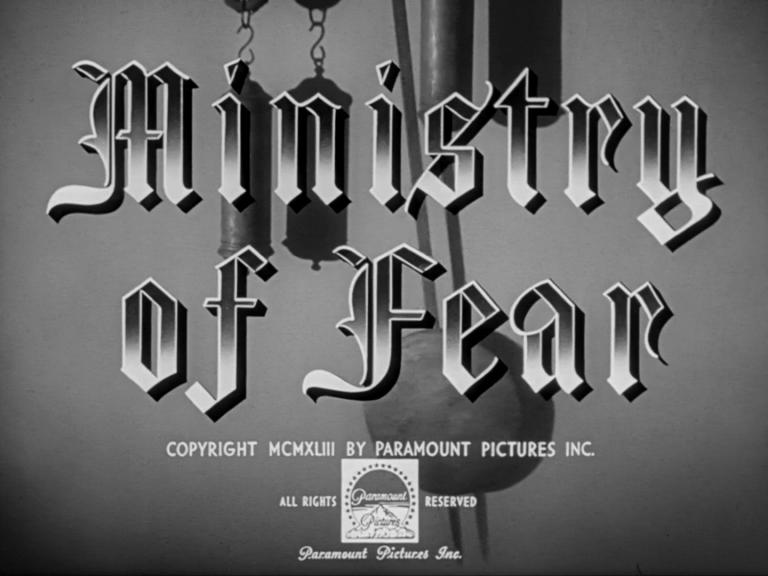 Main title from Ministry of Fear (1944) (2)