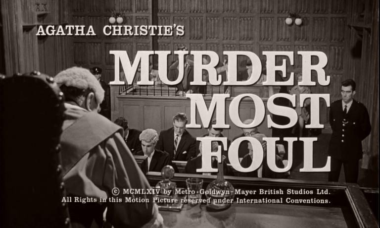Main title from Murder Most Foul (1964) (5).  Agatha Christie's Murder Most Foul.  Copyright 1964 by Metro-Goldwyn-Mayer British Studios Ltd.  All rights in this motion picture reserved under international conventions