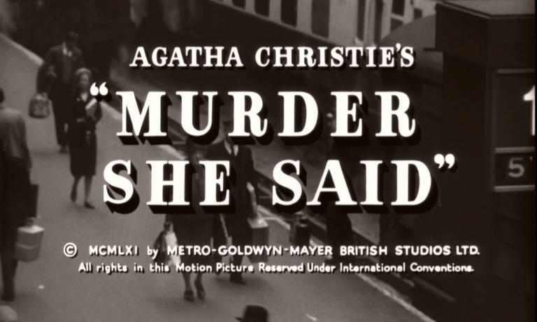 Main title from Murder She Said (1961) (5)  Agatha Christie's