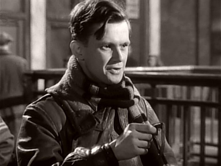 Ted Edwards (Nigel Stock) in a scene from It Always Rains on Sunday (1947)