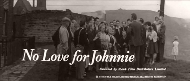 Main title from No Love for Johnnie (1961) (4)  Released by Rank Film Distributors Limited