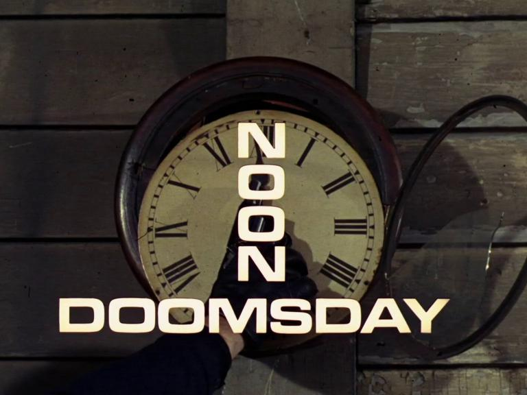 Main title from the 1968 'Noon-Doomsday' episode of The Avengers (1961-69) (1)