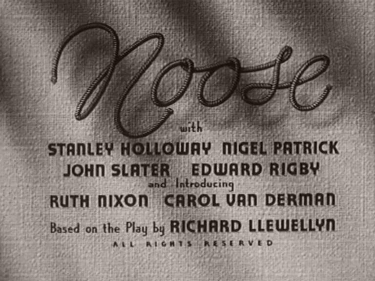 Main title from Noose (1948) (4)