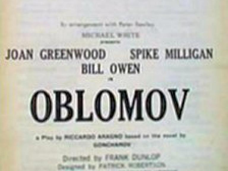 Programme from Oblomov (1964) at the New Lyric Theatre, Hammersmith (1)