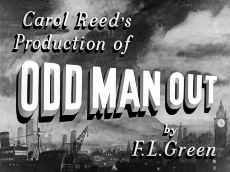 Main title from Odd Man Out (1947) (4).  Carol Reed's production of Odd Man Out by F L Green