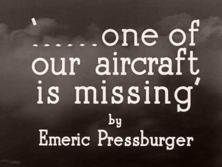 Main title from One of Our Aircraft Is Missing (1942) (5). By Emeric Pressburger