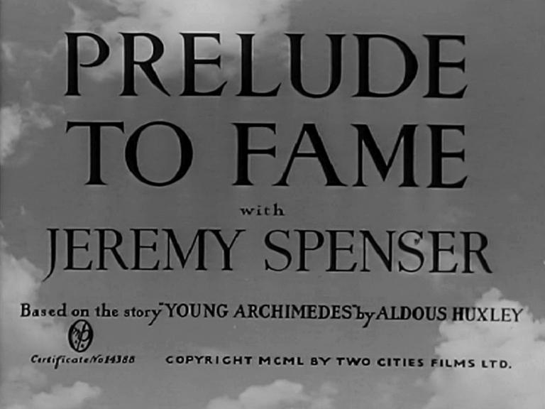 Main title from Prelude to Fame (1950) (4). With Jeremy Spenser
