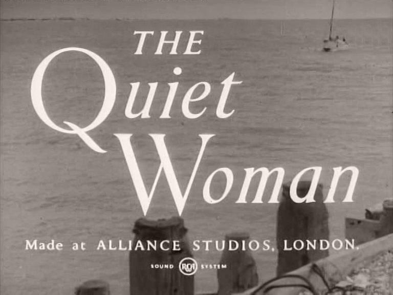 Main title from The Quiet Woman (1951) (3).  Made at Alliance Studios London