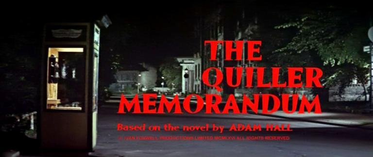 Main title from The Quiller Memorandum (1966) (3)
