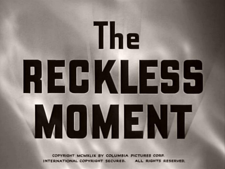 Main title from The Reckless Moment (1949)