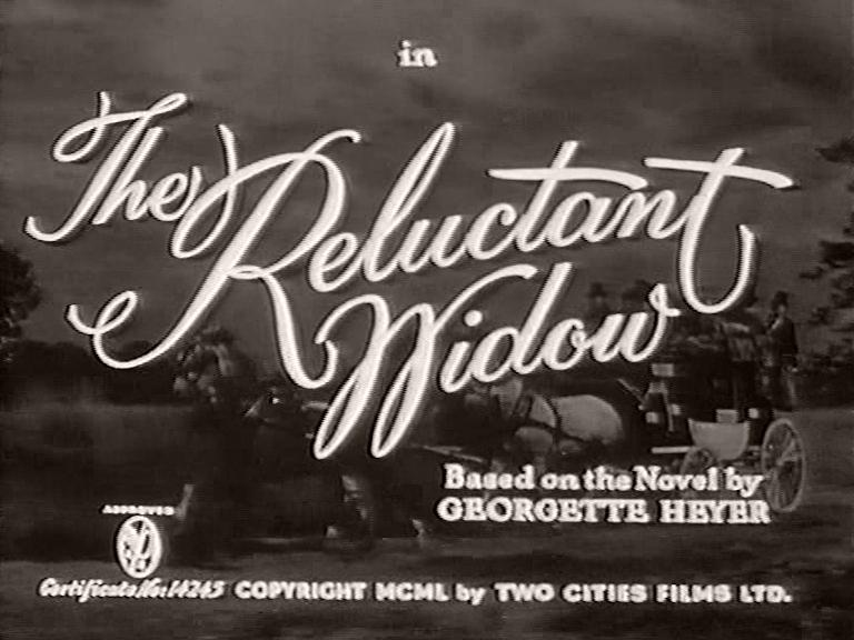 Main title from The Reluctant Widow (1950)