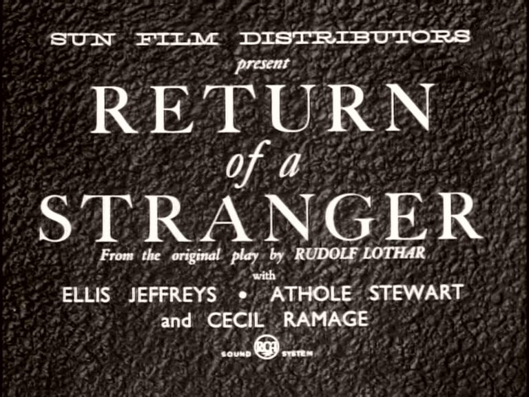 Main title from Return of a Stranger (1937) (1)