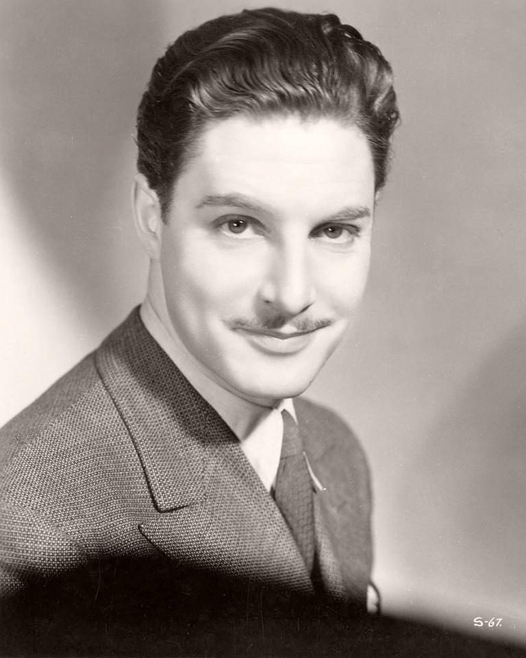 Publicity photograph from the 1930s featuring British actor, Robert Donat
