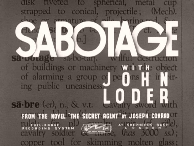 Main title from Sabotage (1936) (3). With John Loder