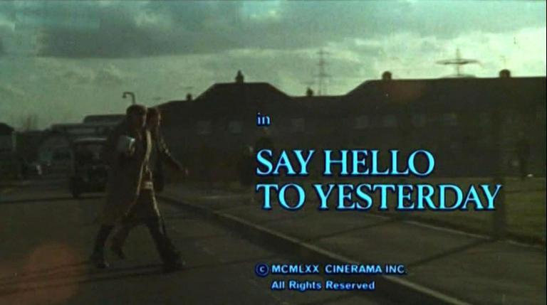Main title from Say Hello to Yesterday (1971) (4).  Copyright 1970 Cinerama Inc.  All rights reserved