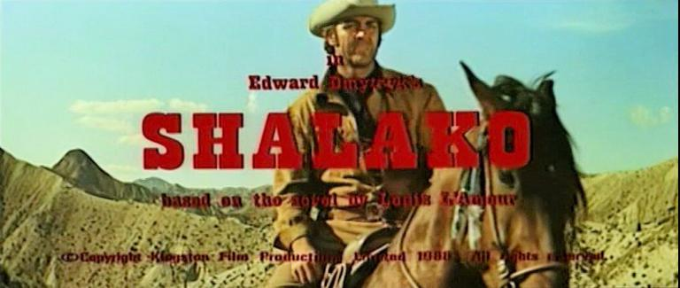 Main title from Shalako (1968) (15).  In Edward Dmytryk's Shalako.  Based on the novel by Louis L'Amour.  Copyright Kingston Film Productions Ltd 1968.  All rights reserved