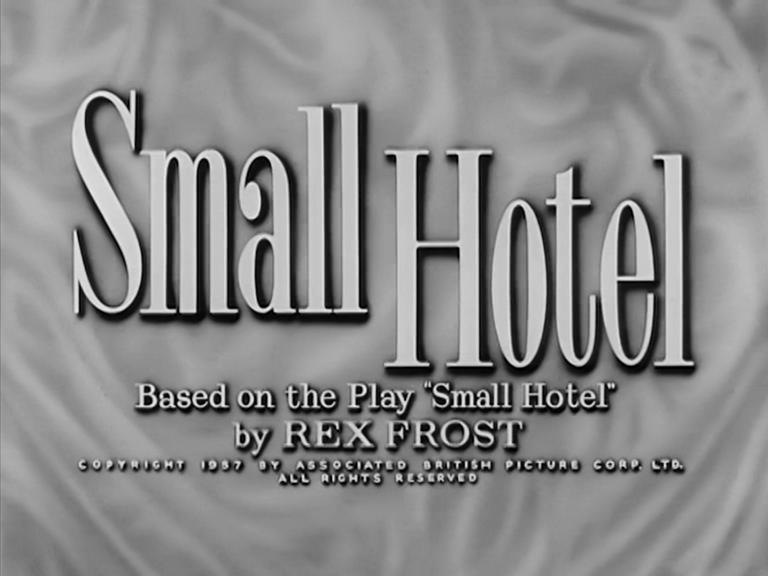 Main title from Small Hotel (1957) (3). Based on the play 'Small Hotel' by Rex Frost