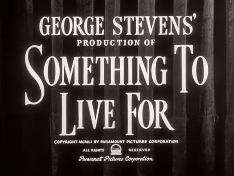 Main title from Something to Live For (1952) (3)