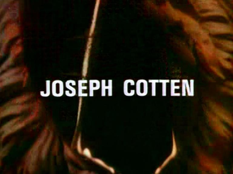 Main title from the 1979 episode of Tales of the Unexpected (1979-88), Edward the Conqueror (2).  Joseph Cotton