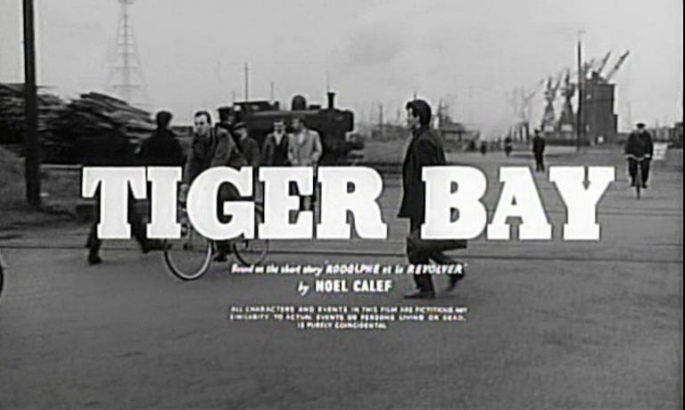 Main title from Tiger Bay (1959).  Based on the short story 'Rodolphe et le Revolver' by Noel Calef.  All characters and events in this film are fictitious.