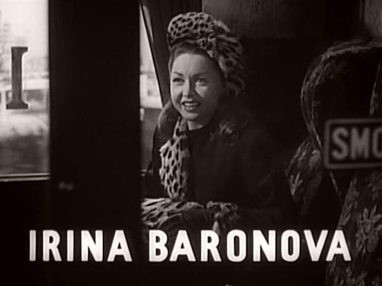 Main title from Train of Events (1949) featuring Irina Baronova
