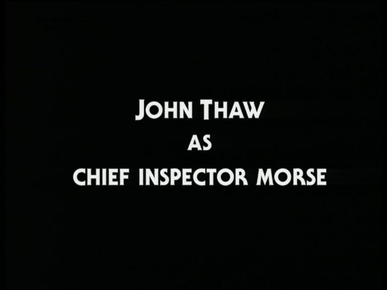 Main title from the 1993 'Twilight of the Gods' episode of Inspector Morse (1987-2000) (1). John Thaw as Ch Insp Morse