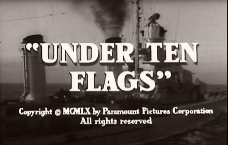 Main title from Under Ten Flags (1960).  Copyright 1960 by Paramount Pictures Corporation.  All rights reserved