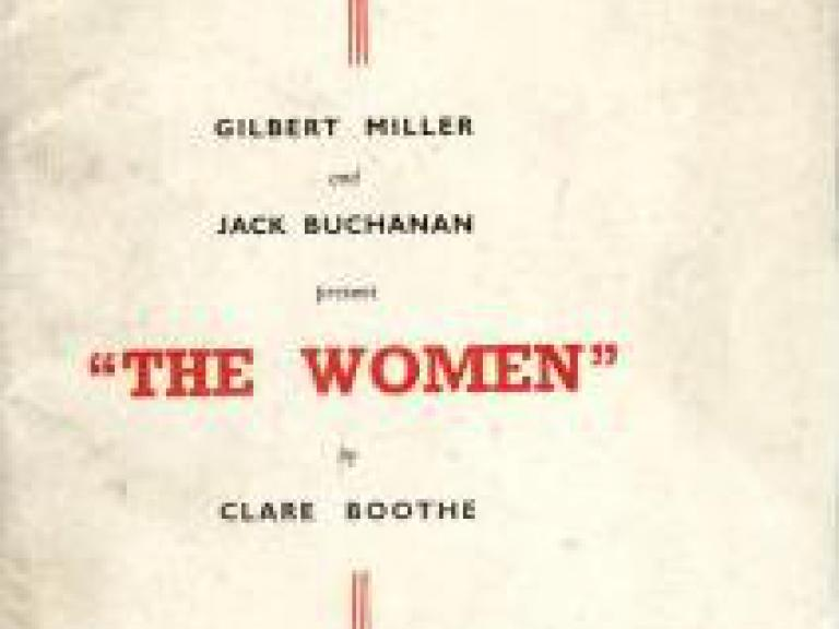 Programme from The Women (1939) at the Lyric Theatre, London (1)