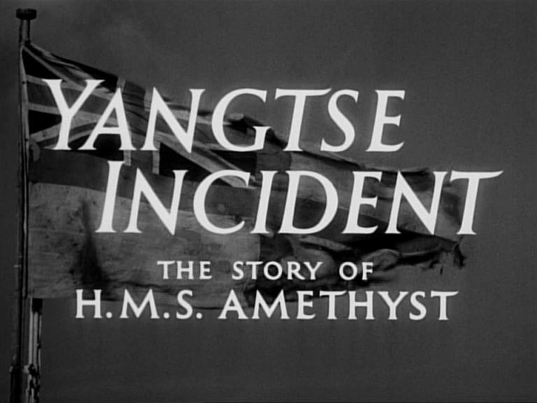 Main title from Yangtse Incident: The Story of HMS Amethyst (1957)