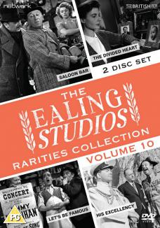 The Ealing Studios Rarities Collection DVD – Volume 10 from Network as part of the British Film collection. Features Saloon Bar, The Divided Heart, Let's Be Famous, His Excellency.