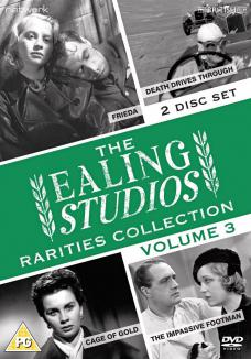 The Ealing Studios Rarities Collection DVD – Volume 3 from Network as part of the British Film collection. Features Cage of Gold, Death Drives Through, The Impassive Footman, Frieda