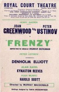 Programme from Frenzy (1948) at the Royal Court Theatre, Liverpool (1)