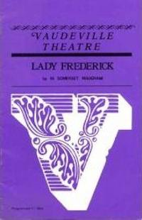 Programme from Lady Frederick (1970) at the Vaudeville Theatre, London (1)